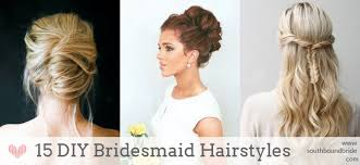 maid of honor hairstyles 15 diy bridesmaid wedding hair tutorials southbound bride