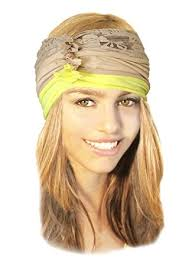 boho hair wrap stretch chunky wide band hair band boho chic wrap