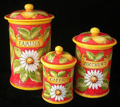 italian canisters kitchen 181 best kitchen canisters images on kitchen canister
