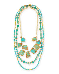 turquoise coloured necklace images Multi strand necklace neiman marcus jpg