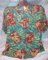 martini hawaiian hawaiian martini mens button front island republic silk summer