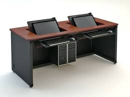 Two Computer Desk Setup Desk Ikea Desks Computer Desks Computer Desk