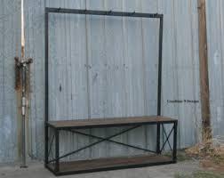 coat rack bench etsy