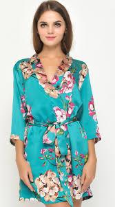 bridesmaids robes cheap satin nightgown floral kimono robe bridesmaid robes cheap