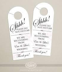 wedding door hanger what to put in wedding welcome bags http