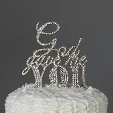 decorating tools god gave me you cake topper for wedding or