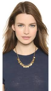 short charm necklace images Lyst tory burch logo charm short necklace worn gold in metallic jpeg