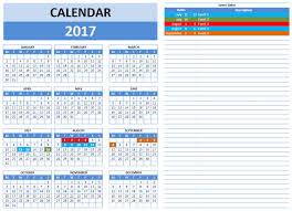 Excel Event Calendar Template Free 2017 Year And Monthly Calendar Template