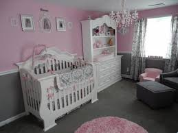 Pink And Grey Nursery Decor Pretty Princess Pink Nursery Room We Skipped The Butterfly And