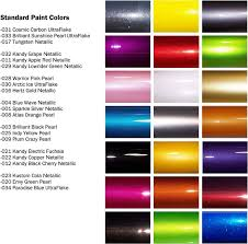 metallic car paint color chart 7614