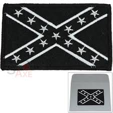 Rebel Flag Gear B U0026w Confederate Flag Embroidered Patch Black U0026 White With Envelope