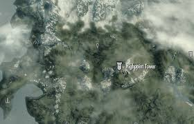 Skyrim World Map by Image Highpoint Tower Map Png Elder Scrolls Fandom Powered