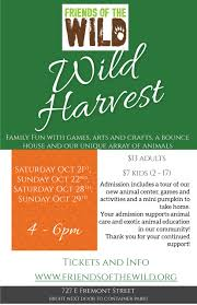 upcoming event friends of the wild u2013 wild harvest