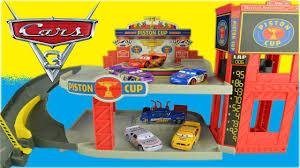 disney cars 3 toys piston cup racing garage story set lightning