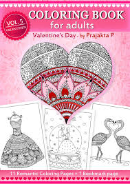 coloring book for valentines day zentangle inspired