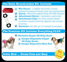 what s included the housebreaker kit premium includes diaper or belly band