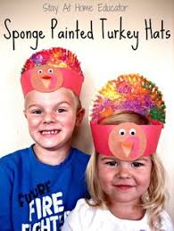 thanksgiving turkey hats turkey hat sponge painting and early