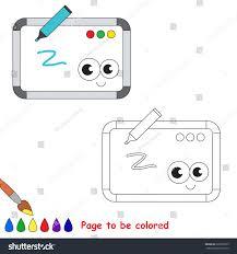 whiteboard colored coloring book preschool stock vector