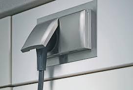 einbausteckdose küche thebo einbausteckdose edelstahl 2fach steckdosen deckel 240000739