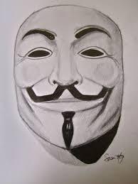 v for vendetta mask mask v for vendetta pencil and in color mask v for