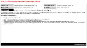 junior embedded software engineer cover letter u0026 resume
