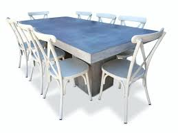 White Outdoor Dining Chairs White Outdoor Dining Table Raw Concrete Tapered Outdoor Dining