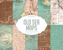 Blossom Music Center Map Vintage Maps Digital Paper Old Sea Maps With