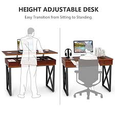 Computer Desk Stand Tribesigns Lift Top Computer Desk Height Adjustable Standing Desk