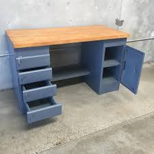vintage 1940 s equipto workbench with restored butcher block top vintage 1940 s equipto workbench with restored butcher block top added