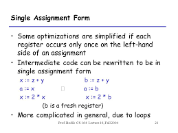 Assignment Form Intermediate Code Local Optimizations Ppt Download