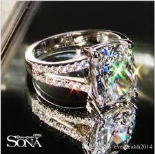 luxury engagement rings 2018 luxury wedding ring 3 85 karat cushion cut sona synthetic