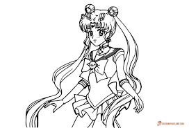 anime coloring pages downloadable and easy printable images