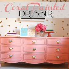 best 25 coral painted dressers ideas on pinterest coral dresser