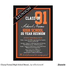 Invitation Card For Get Together Classy Formal High Reunion Card Reunion High