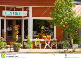 small town storefronts in georgia editorial stock photo image