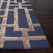 Blue Wool Rug Hand Tufted Wool Rug Rug Designs