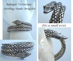 antique sterling silver bracelet images Antique victorian sterling silver spiral coiled snake bracelet jpg