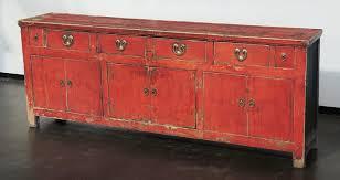 very nice vintage chinese red sideboard buffet server media