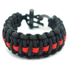 paracord bracelet style images Firesteel king cobra style paracord bracelet black w red line jpg