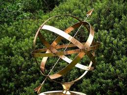 sculpture armillary spheres brass sundial traditional