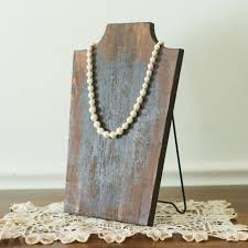 necklace display stand images Wood necklace display stand antique farmhouse jpg