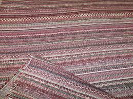 Red Wine Upholstery Red Wine U0026 Grey U2013 Ethnic Stripe Design Weave Upholstery Fabric
