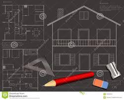 house blueprint background stock image image 36393421