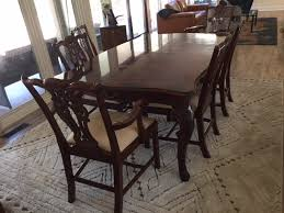 thomasville dining room chairs traditional dining room set by thomasville manor born estate sales
