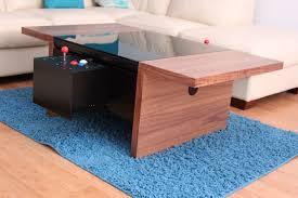 dual arcade coffee table plug play gaming chicago walnut 2 player