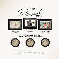 Personalized Picture Clocks In These Moments Time Stood Still Wall Decal Personalized