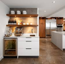 Kitchen Wine Cabinets Chic Built In Wine Fridge Featuring Brown Wooden Kitchen Cabinets