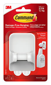 amazon com command spray bottle hanger 1 hanger 2 large strips