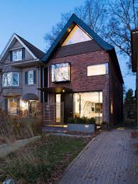 Renovated Victorian Homes by Early 1900s Toronto Home With A Glassy Modern Renovation