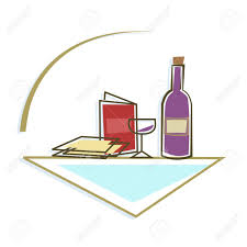 passover items seder table icon stylized icon of passover seder table with